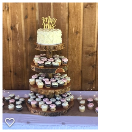 Item #1 Log Cupcake Tower $50