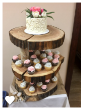 Item #2 Log Cupcake Tower $50